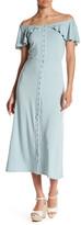Rachel Pally Preston Off-the-Shoulder Midi Dress