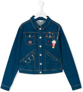 Little Marc Jacobs Popcorn denim jacket - kids - Cotton/Polyester/Spandex/Elastane - 14 yrs