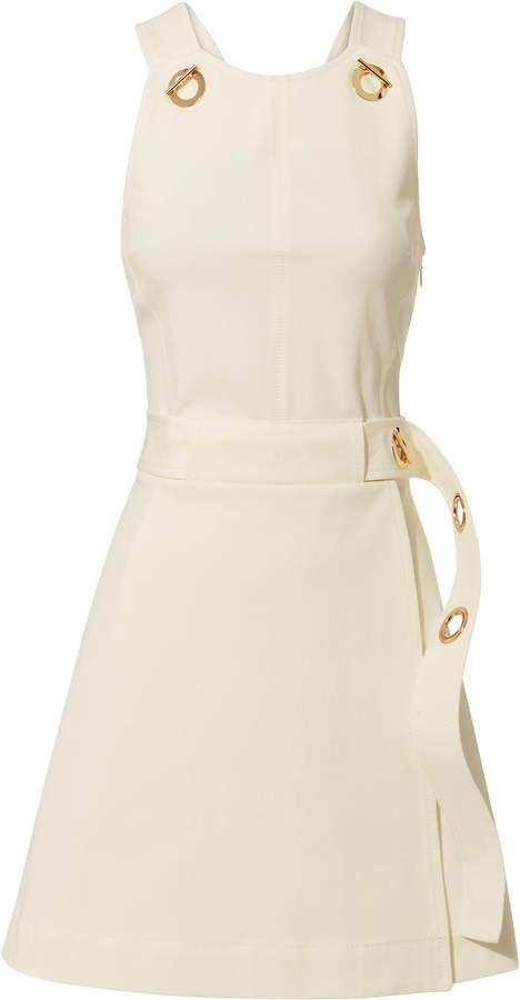 Derek Lam 10 Crosby White Twill Grommet Mini Dress