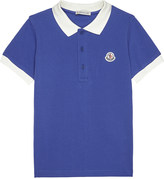 Moncler Contrasting collar cotton polo shirt 4-14 years