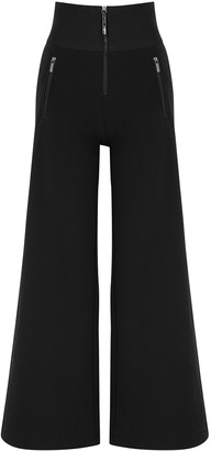 High Equity black stretch-jersey trousers