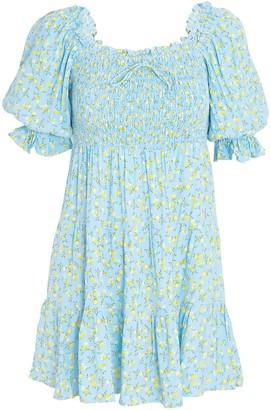 Faithfull The Brand Charlotte Floral Mini Dress