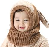 Topda123 Baby Girls Boys Winter Hat Scarf Woolen Earflap Hood Scarves Skull Caps