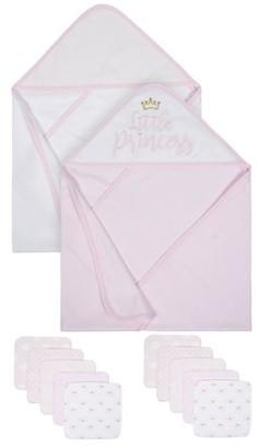 Gerber Organic Towels and Washcloths Bath Bundle, 12pc (Baby Girls)