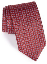 Canali Men's Geometric & Floral Grid Silk Tie