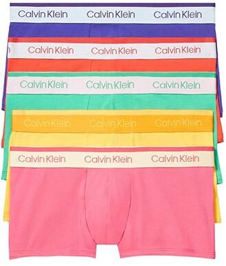 Calvin Klein Underwear Pride Edit Cotton Stretch Multipack Low Rise Trunks (Fury/Crissie Pink/Summer Shine/Envy/Powerful) Men's Underwear