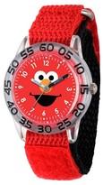 Sesame Street Boys' Clear Plastic Time Teacher Watch - Red