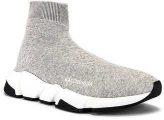 Balenciaga Speed Light Sneaker in Grey & White & Black | FWRD