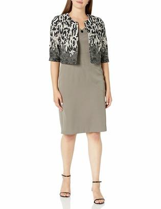 Maya Brooke Women's Animal Print Jacket Dress