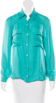 L'Agence Silk Button-Up Blouse w/ Tags