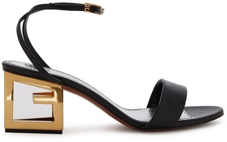 Givenchy 3G 65 black leather sandals