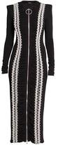 Thumbnail for your product : Balmain Soutache Ruched Midi-Dress