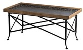 Wanamingo Classic Vintage Wood and Metal Coffee Table with Tray Top Millwood Pines