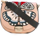 Furla Club embroidered crossbody bag