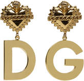Dolce & Gabbana Gold Heart Clip-On Earrings