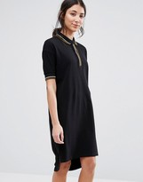 NATIVE YOUTH Loose Fit Polo Dress