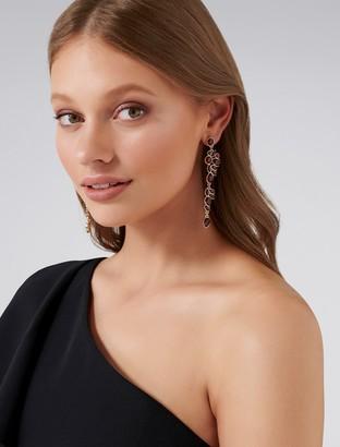 Forever New Yasmin Statement Stone Drop Earrings - Burgundy - 00