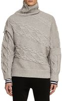Burberry Cable & Rib Knit Collage Sweater