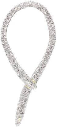 Alessandra Rich Crystal-embellished snake necklace
