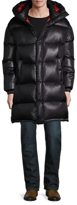 Maurice Benisti Down-Fill Hooded Puffer Coat