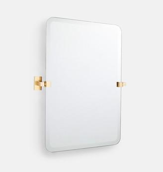 Rejuvenation Yaquina Frameless Rounded Rectangle Pivot Mirror