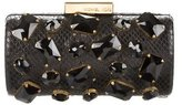 MICHAEL Michael Kors Gem-Embellished Embossed Leather Clutch