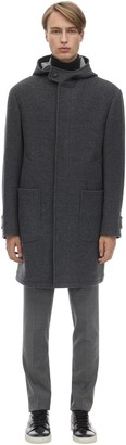 Ermenegildo Zegna Hooded Double Face Wool Coat