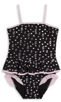 Juicy Couture Toddler's & Little Girl's One-Piece Printed Peplum Swimsuit