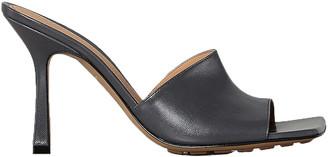 Bottega Veneta Leather Mules in Light Graphite | FWRD