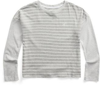 Ralph Lauren Mixed-Stripe Long-Sleeve Top