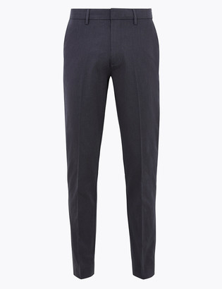 Marks and Spencer Regular Fit Textured Stretch Chinos
