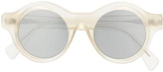 Kuboraum Transparent Round-Frame Sunglasses