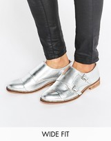 Asos MICHAELA Wide Fit Leather Flat Shoes