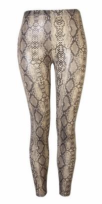 Espania Trading EST Ladies Legging Jegging Zebra and Snake Print Trouser Yoga Fitted Pant Full Length Snake Print M/L