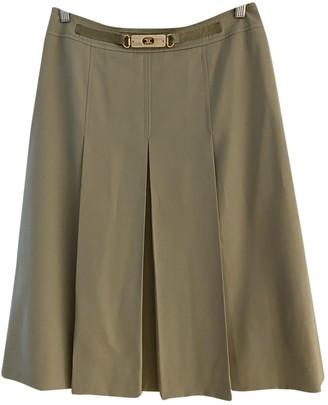 Celine Khaki Wool Skirt for Women Vintage