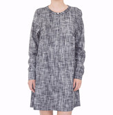 Attitude 157 - Callista Black & White Striped Long Sleeve Tunic Shirt Dress - L - White/Black