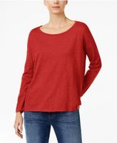 Eileen Fisher Organic Cotton Drop-Shoulder Top