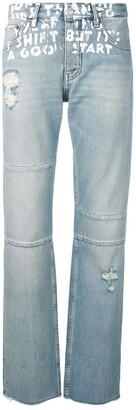 MM6 MAISON MARGIELA Low Rise Paint Effect Jeans
