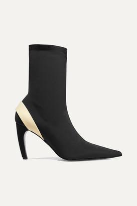 Proenza Schouler Rubber-trimmed Stretch-knit Sock Boots - Black