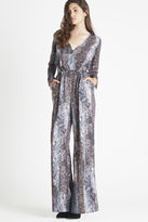 BCBGeneration Long-Sleeve Flare-Pant Jumpsuit - Black
