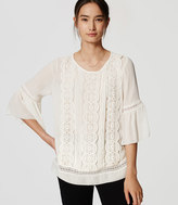 LOFT Lacy Bell Sleeve Top