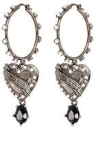 Alexander McQueen 'Heart Locket' hoop drop earrings