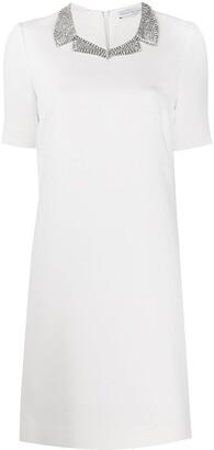 Ermanno Scervino crystal collar dress