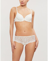 Simone Perele Promesse 3D Spacer and stretch-lace underwired plunge bra