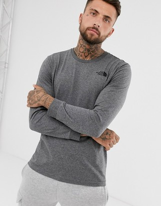 The North Face Simple Dome long sleeve t-shirt in grey