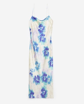 The Kooples Long printed open-back dress with straps