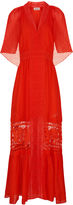 Temperley London Mandarin Fil Coupe Long Dress