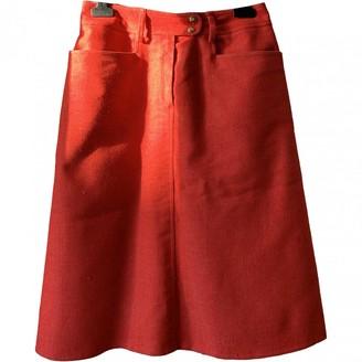 Celine Red Denim - Jeans Skirt for Women Vintage