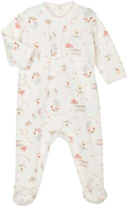 Petit Bateau 6470770 Sleeping Bag for Girls 3 Months Milk/Multi-Coloured - Beige - 0-3 Months
