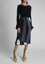 Dries Van Noten Sarean Polka-Dot Pleated Skirt